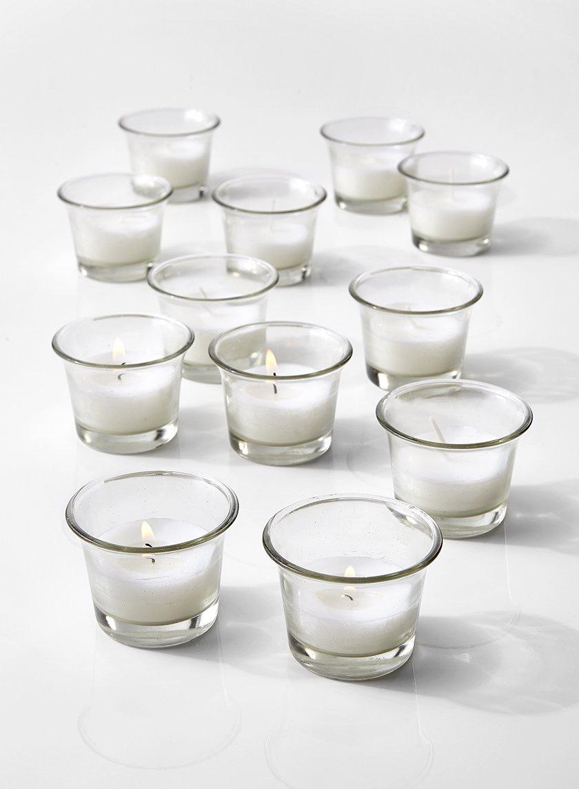 10-Hour White Votive in Tulip Glass