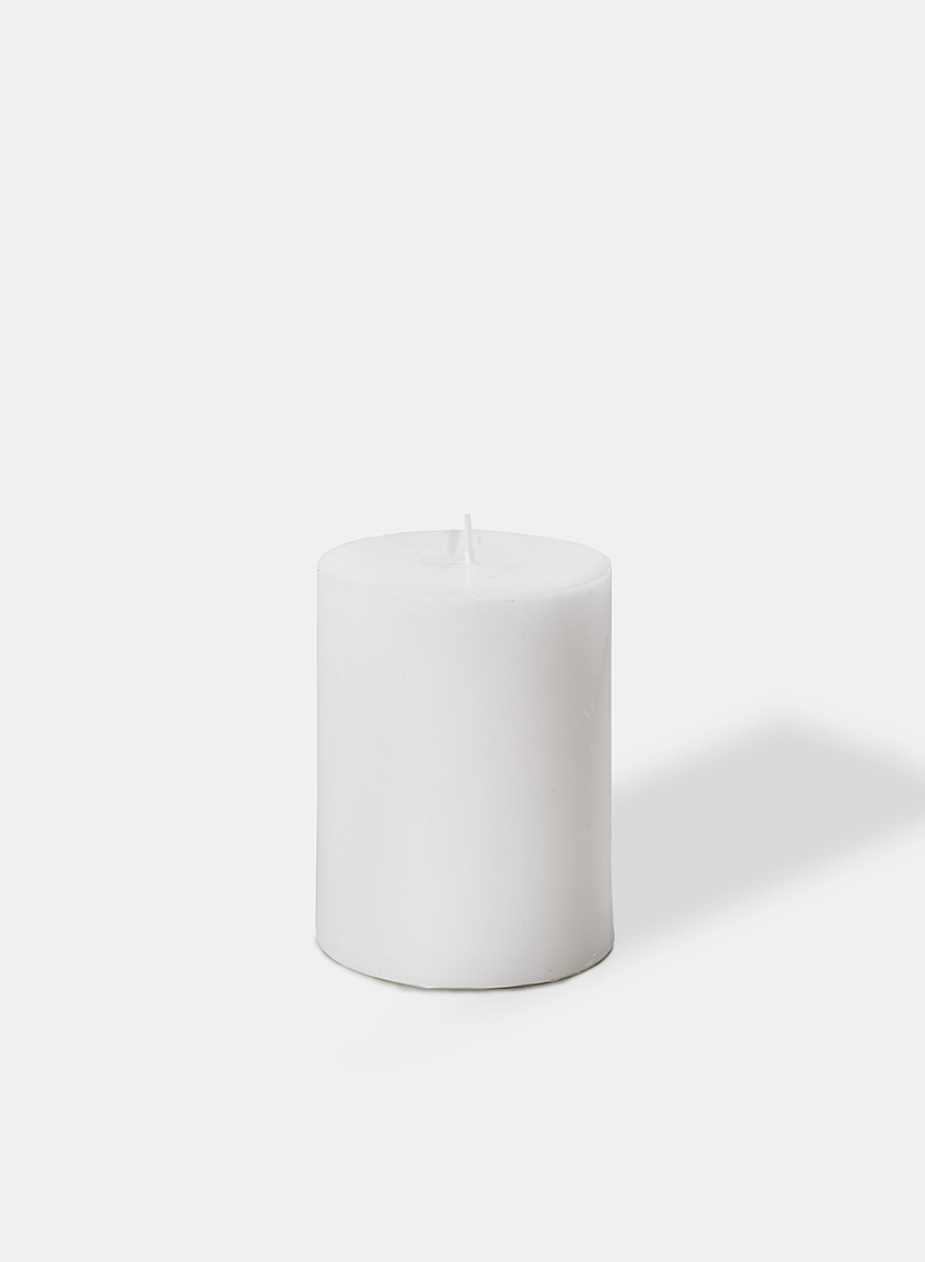 3 x 4in White Pillar Candle