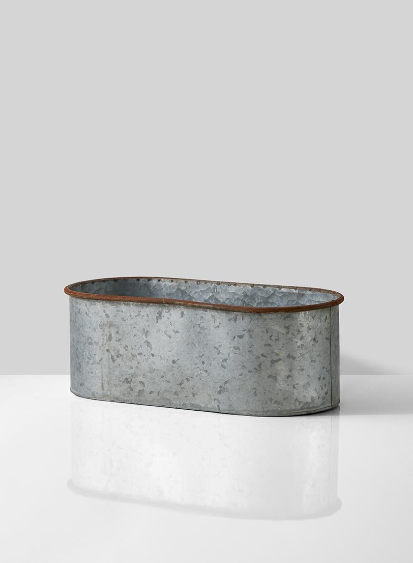 rustic oval zinc window box