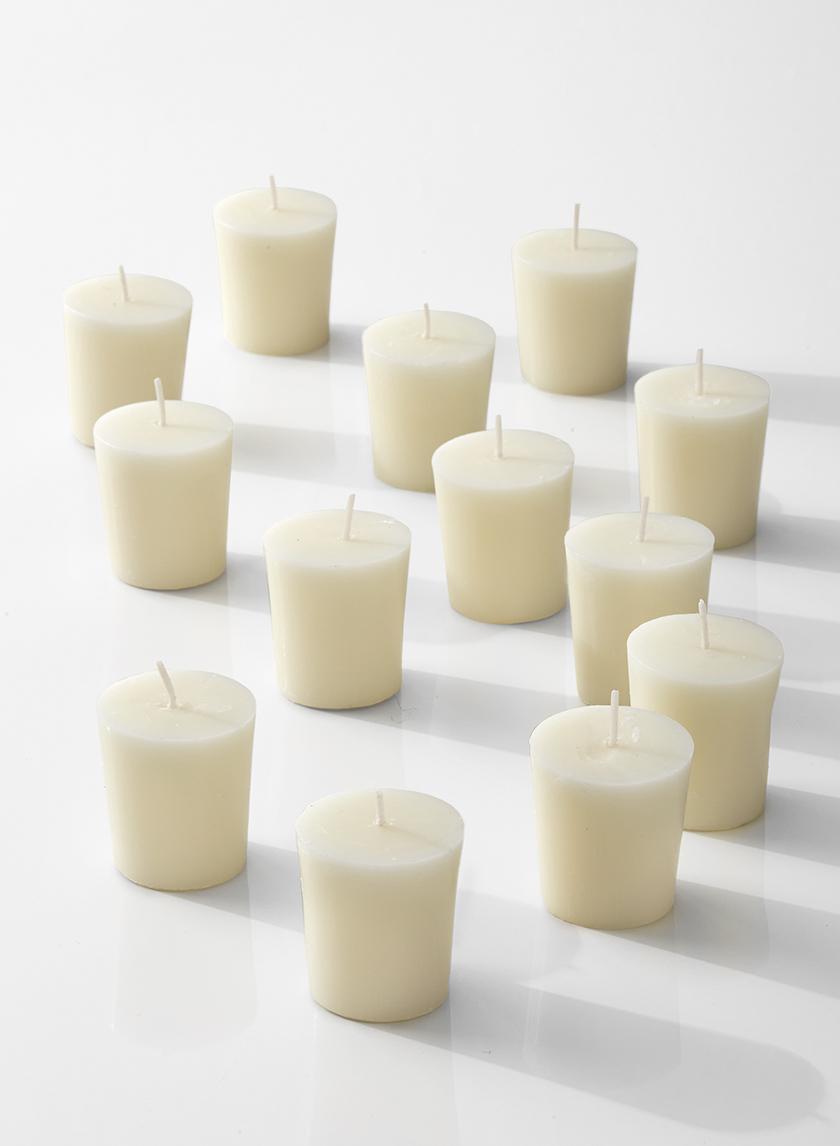 15-hour ivory votive candle