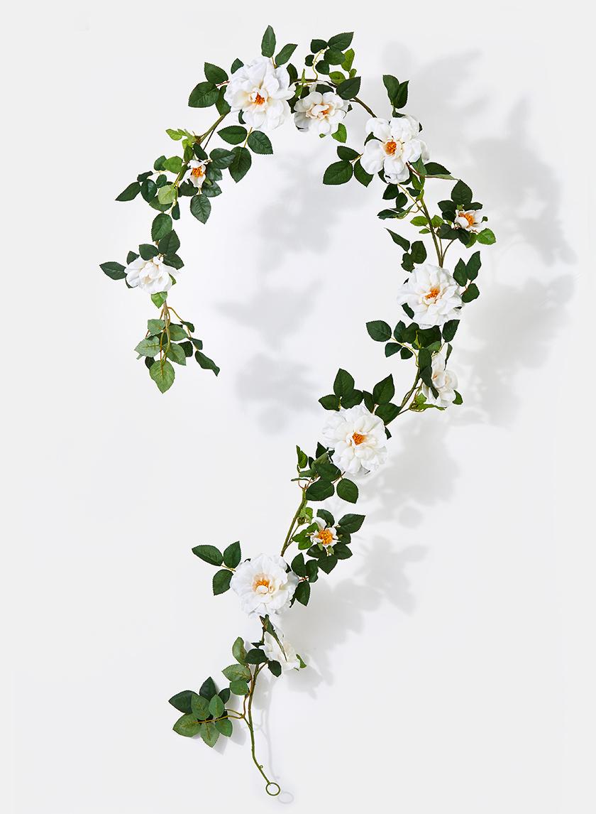 78in Cream Rose Garland