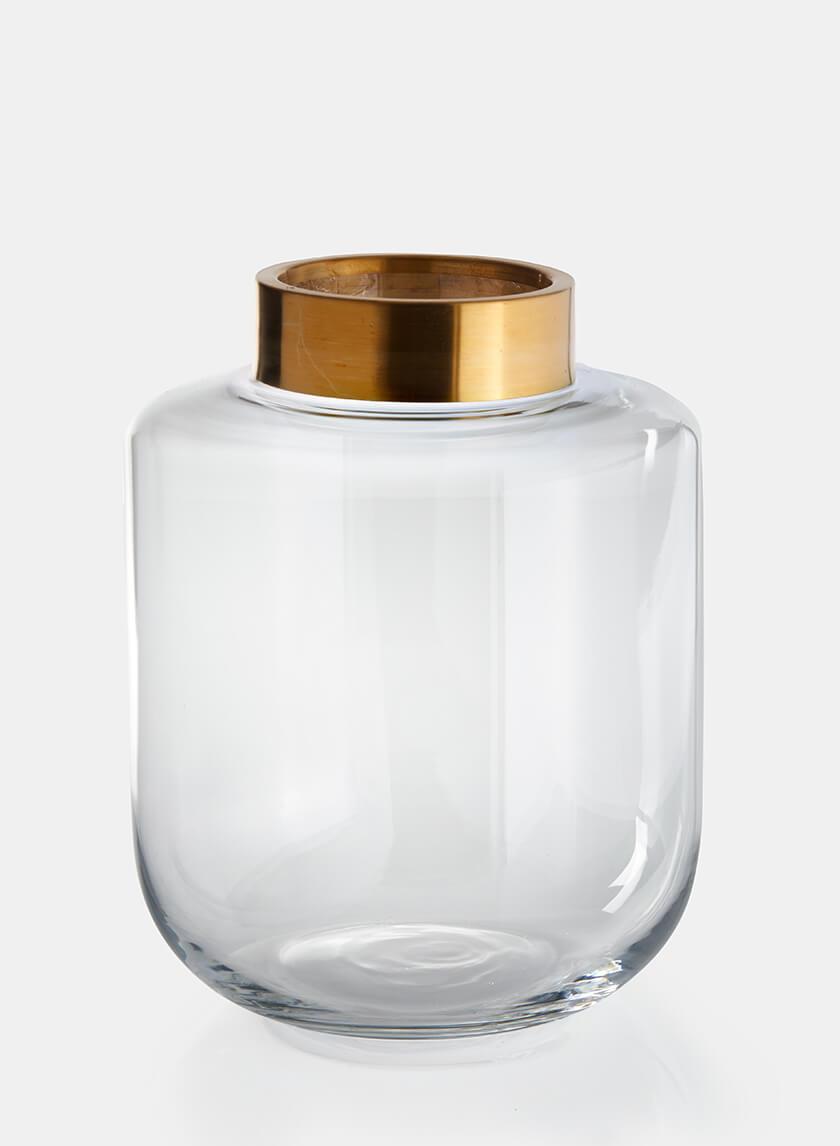 12in Gold Mouth Jar Vase