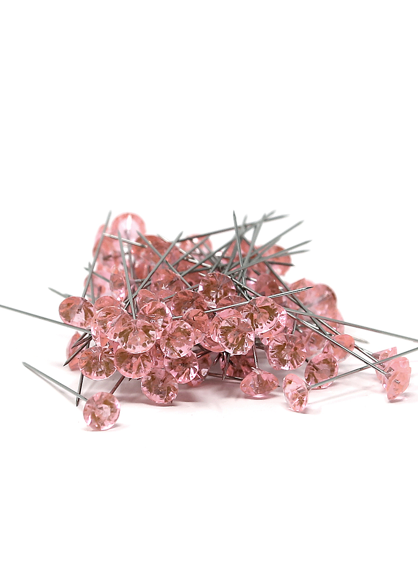 OASIS Lomey 2in Pink Diamante Pins, Set of 100