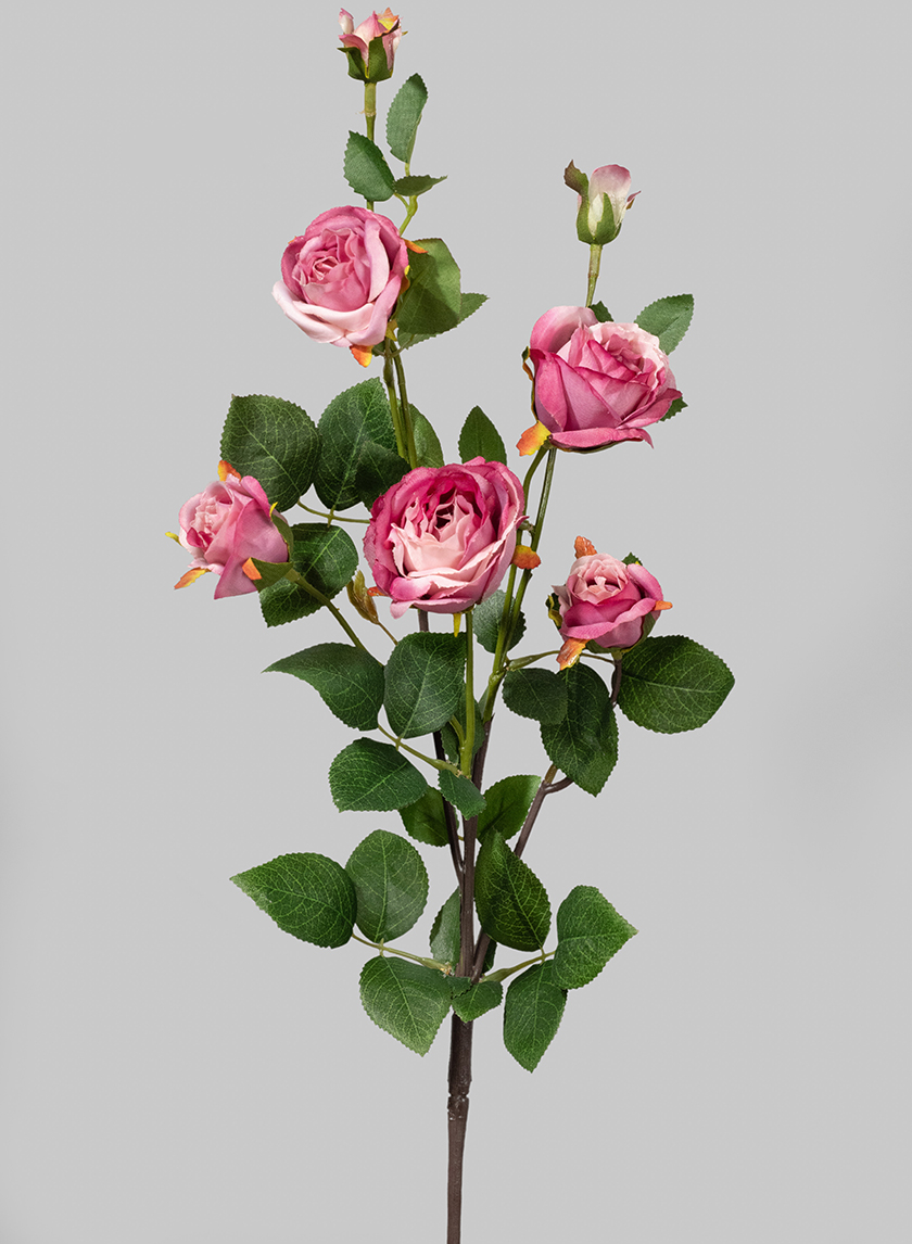 28in Pink Pearl Cabbage Rose Spray