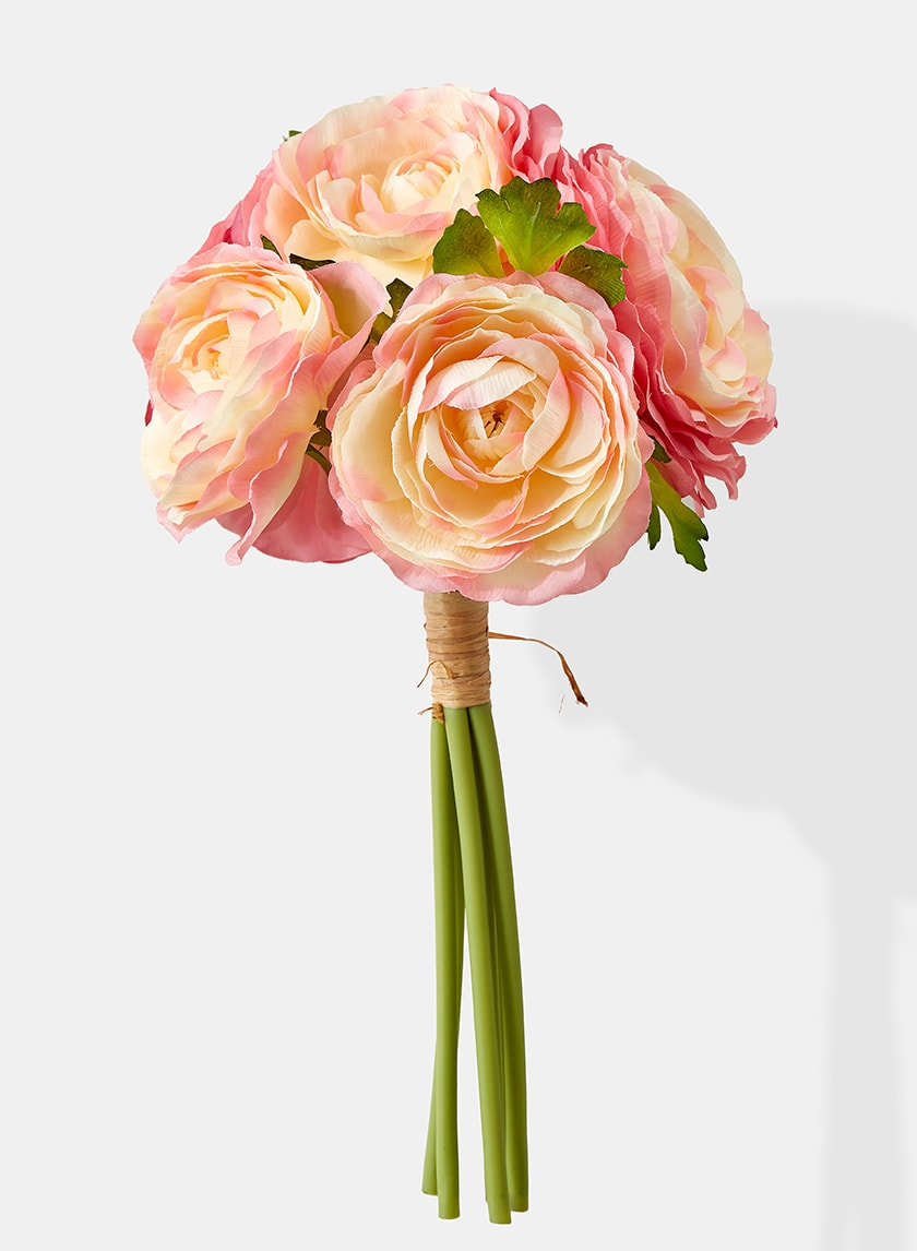 12in Pink Ranunculus Bouquet 24751