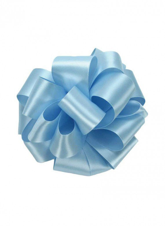 5/8in Light Blue Double Face Satin Ribbon