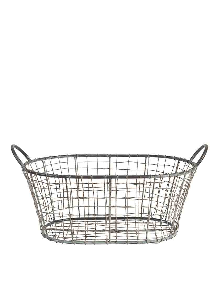 21in Oval Wire Basket