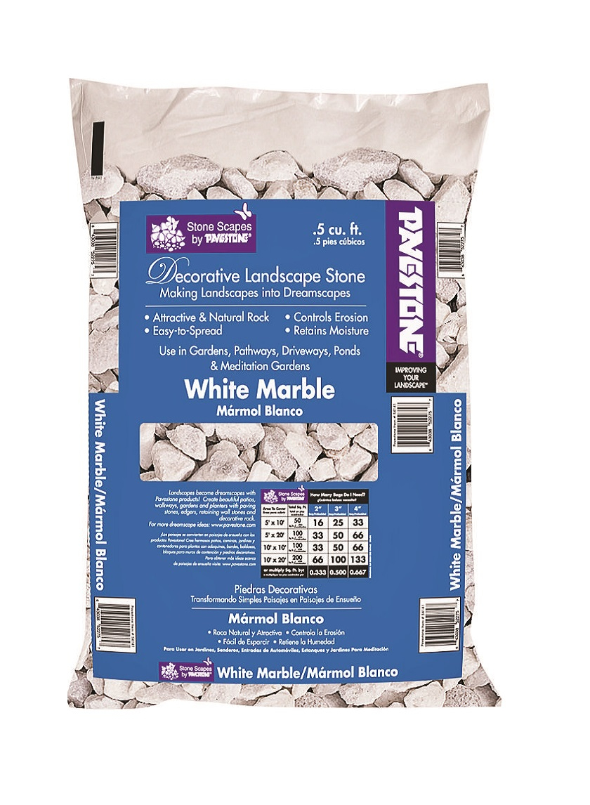 1/2 cuft White Marble Chip Bag