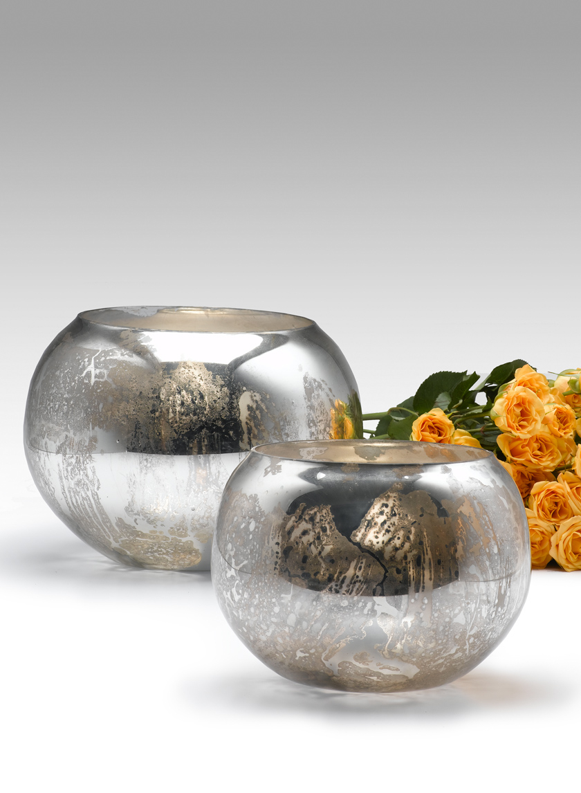 6- & 8-inch Antique Silver Fish Bowls
