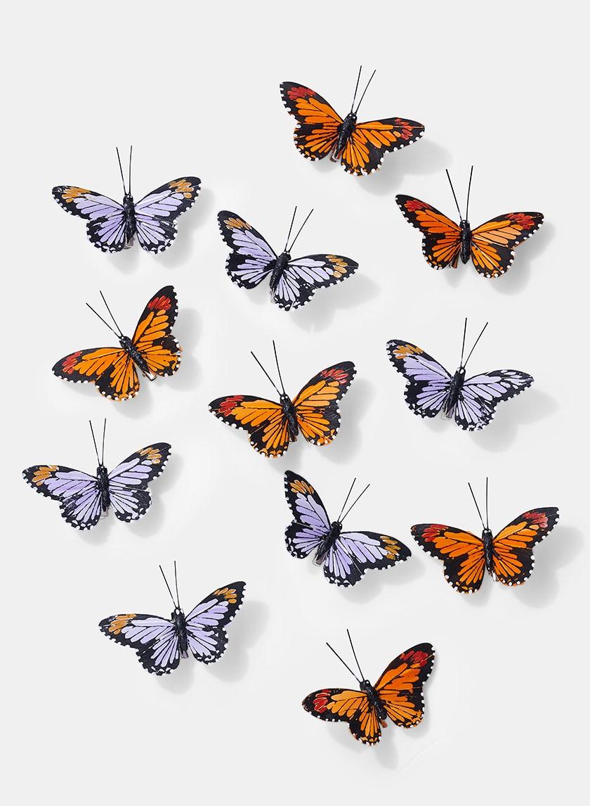 3 1/2in Orange & Purple Monarch Butterflies, Set of 12 24906