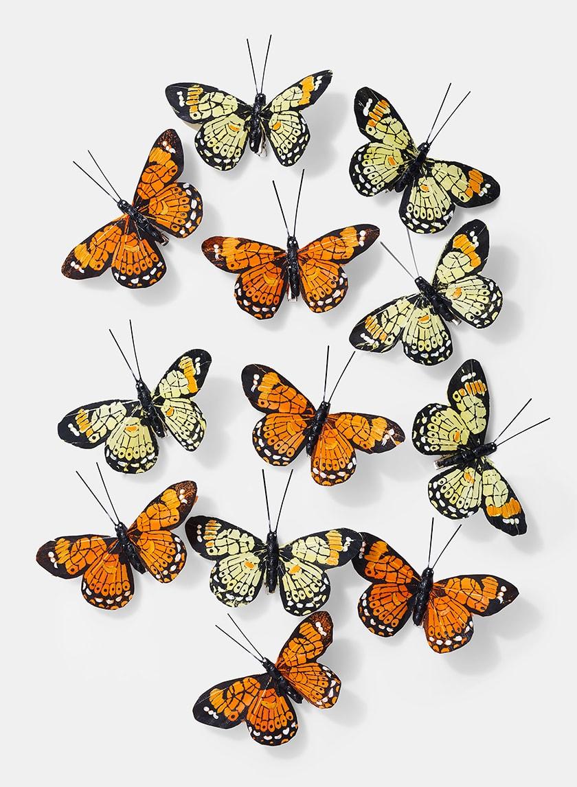 4 1/2in Yellow & Orange Butterflies, Set of 12 24909