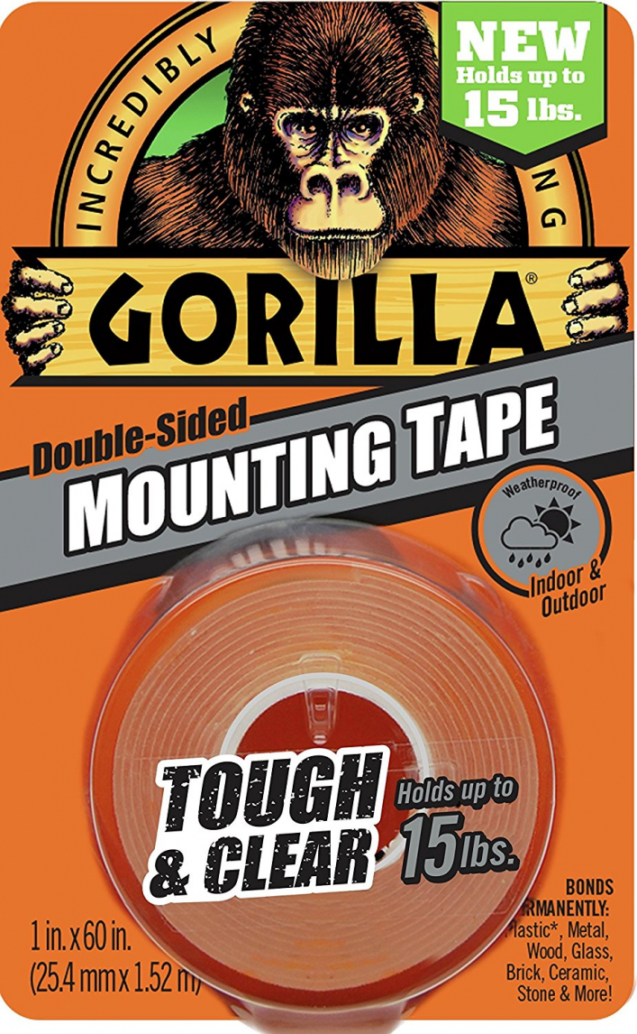 Gorilla Clear Double-Sided Mounting Tape