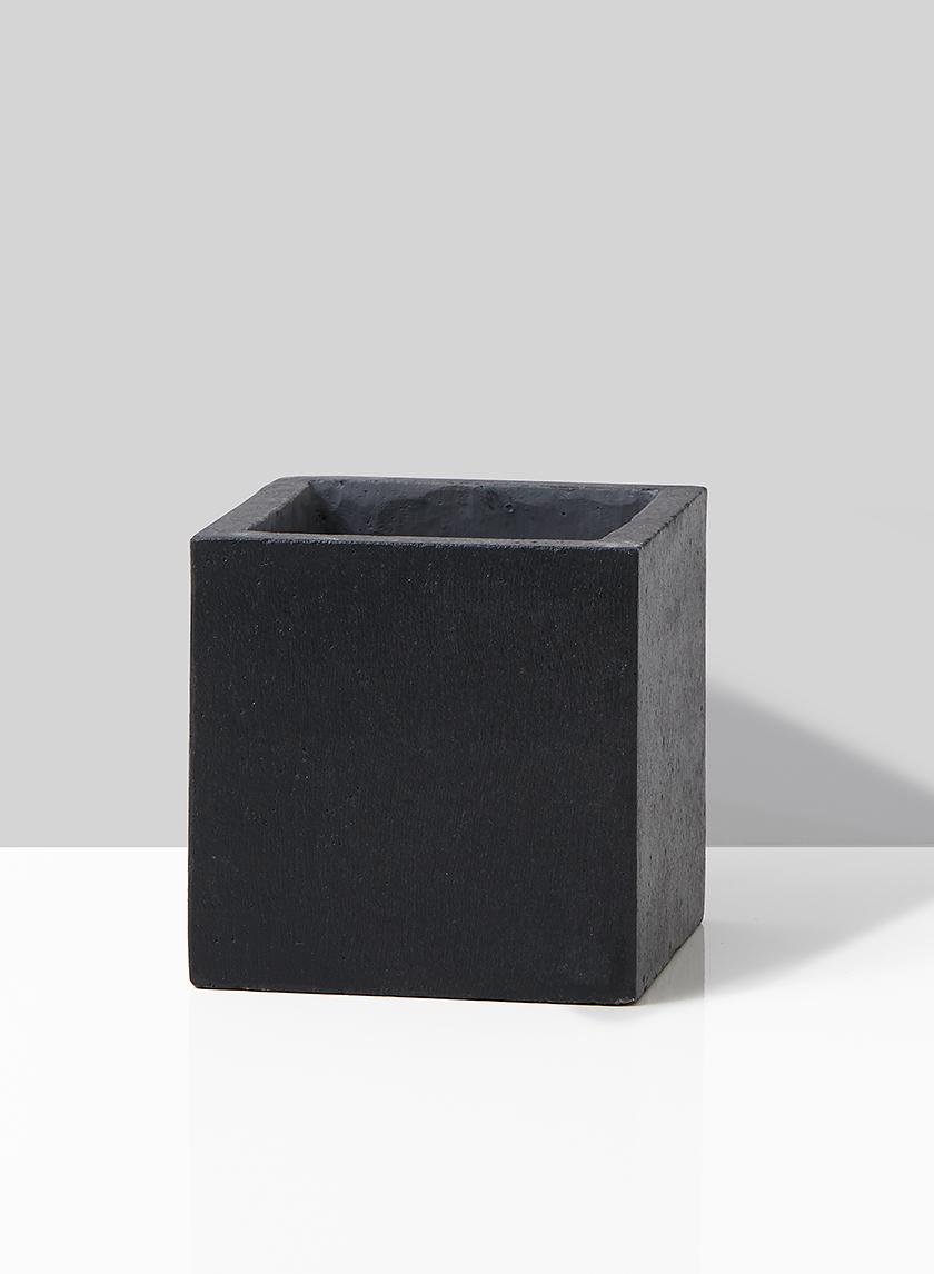 black ficonstone modern planter