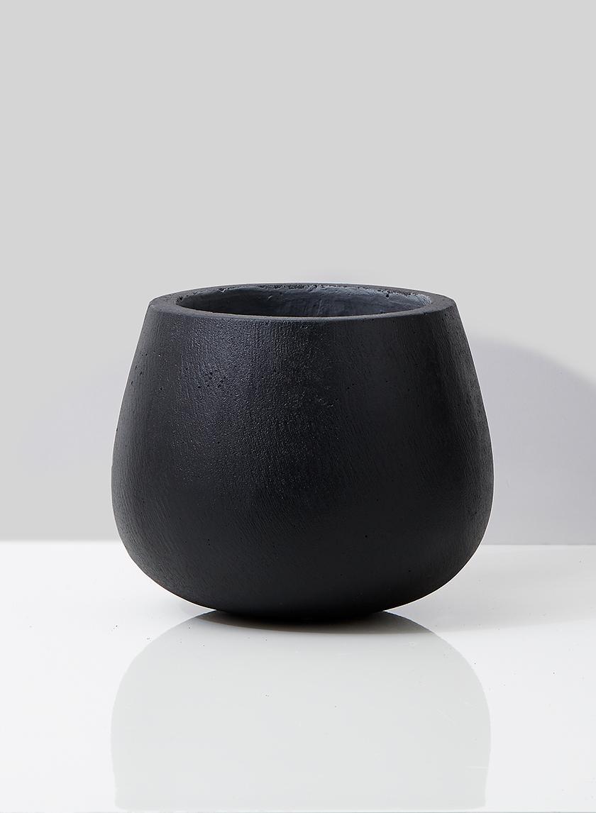 round ficonstone planter