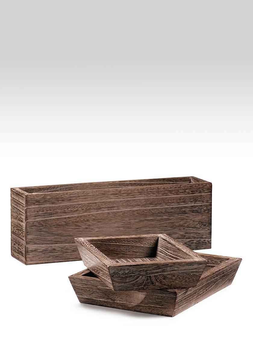 16x3x5 Kiri Wood Vase
