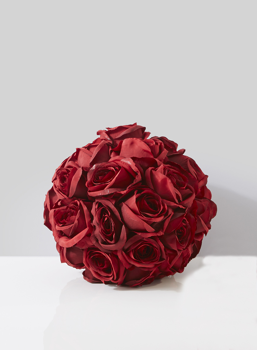 9in Red Eternity Rose Pomander