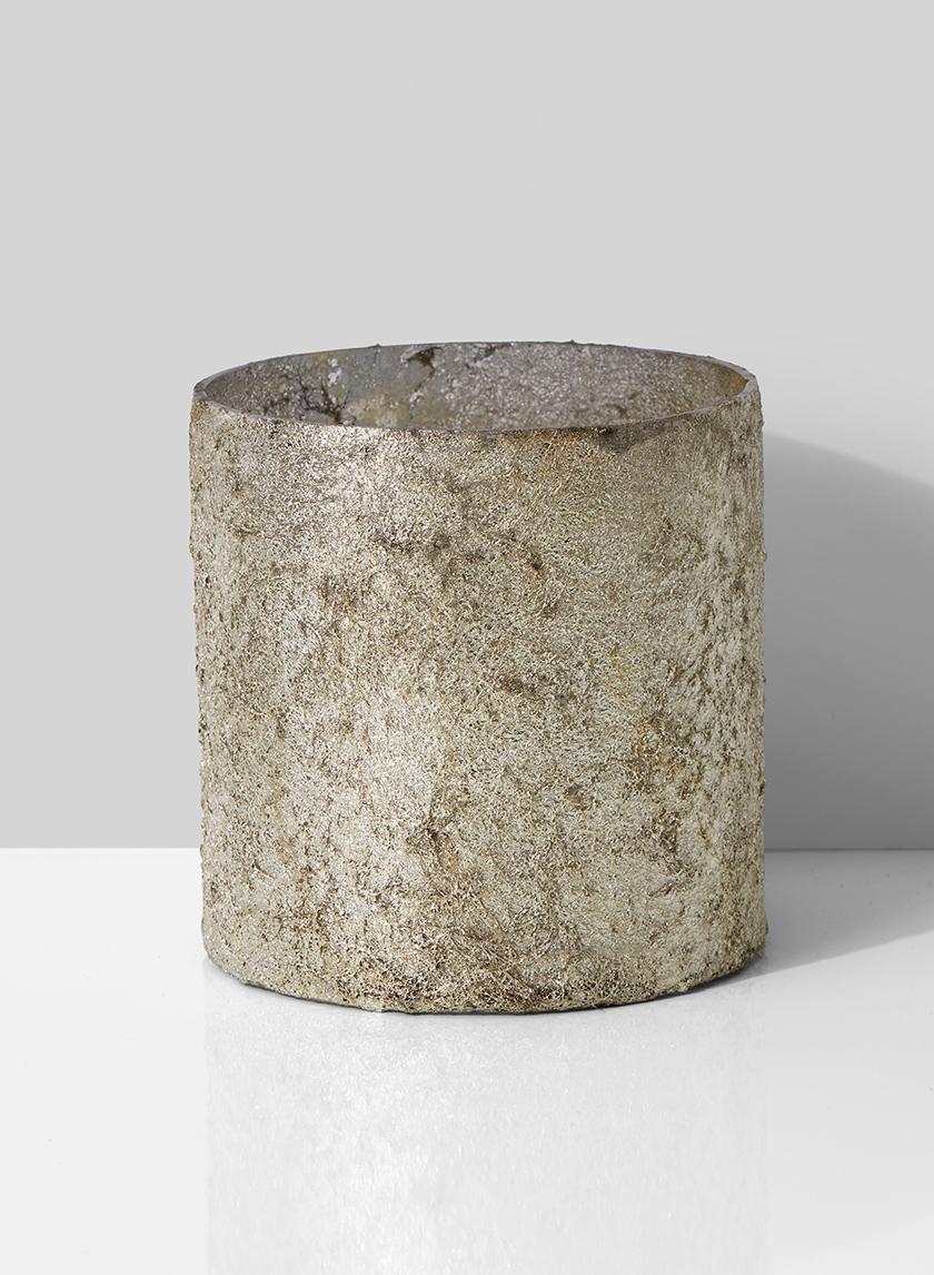 4in Old Silver Glass Vase