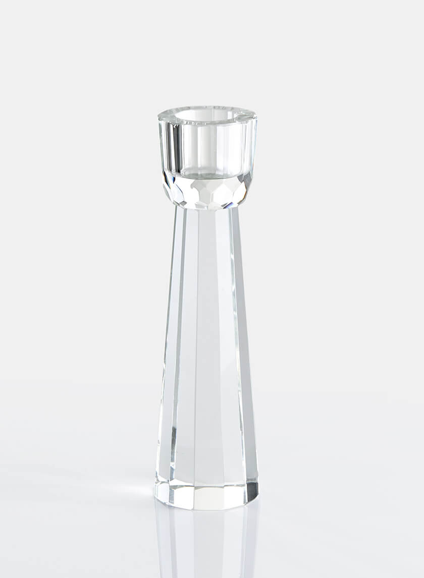 5 3/4in Faceted Crystal Candlestick