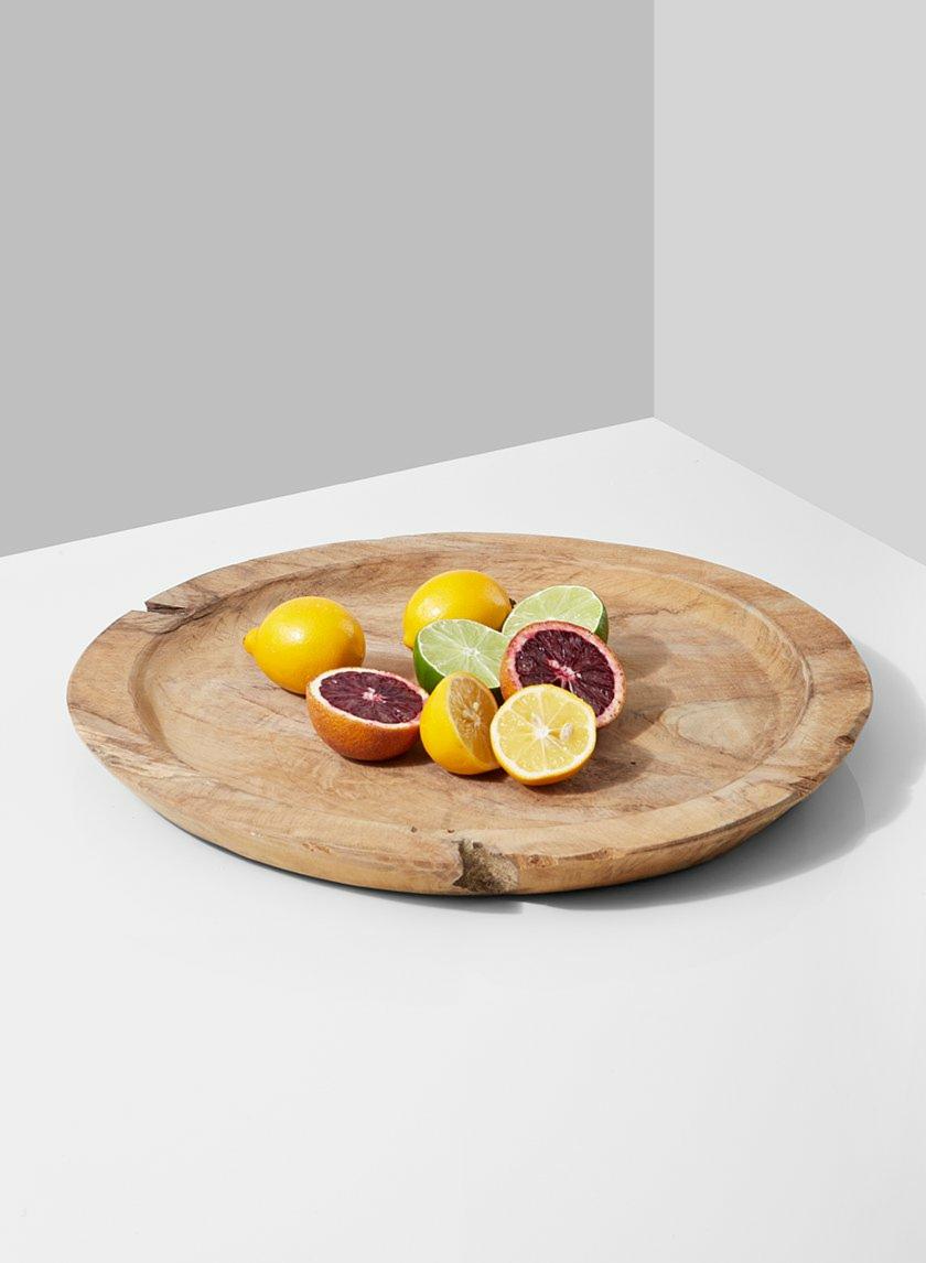 14in Round Teak Plate