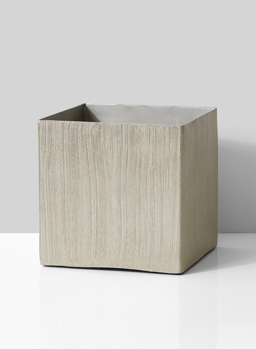 6in Nickel Cube Vase