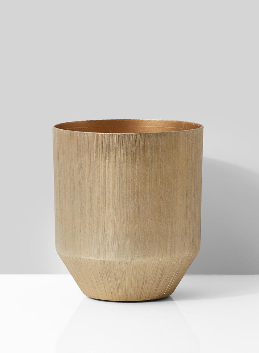 Round Gold Vase