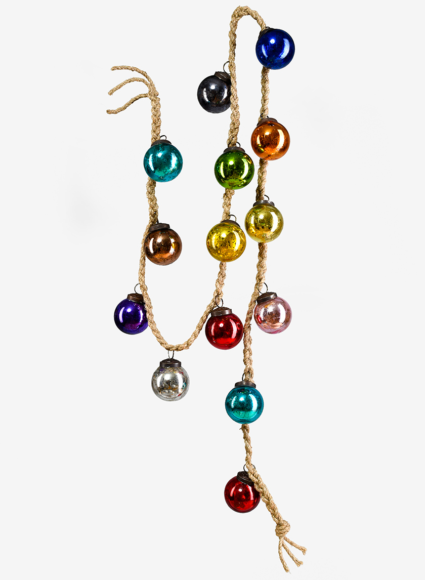 5ft Multicolor Glass Ball Garland