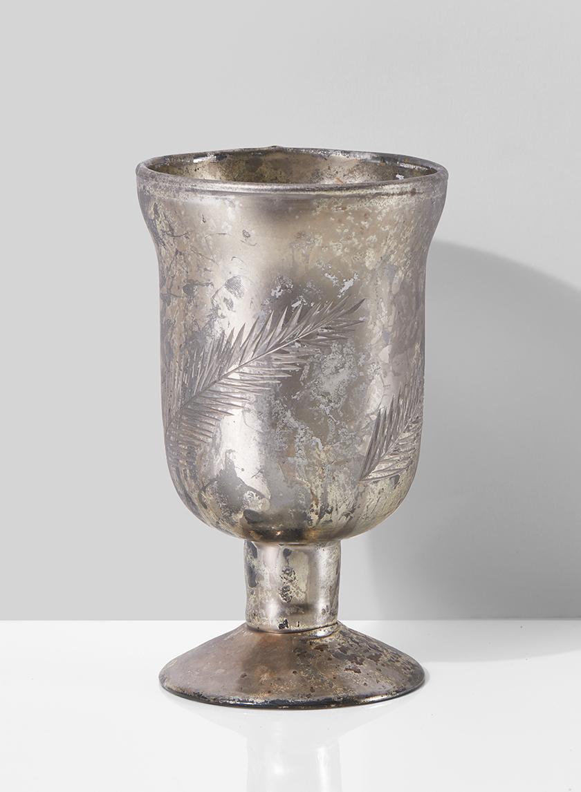 6in Etched Goblet Vase
