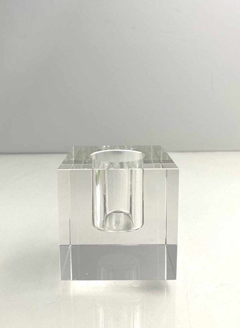 Square Crystal Vase