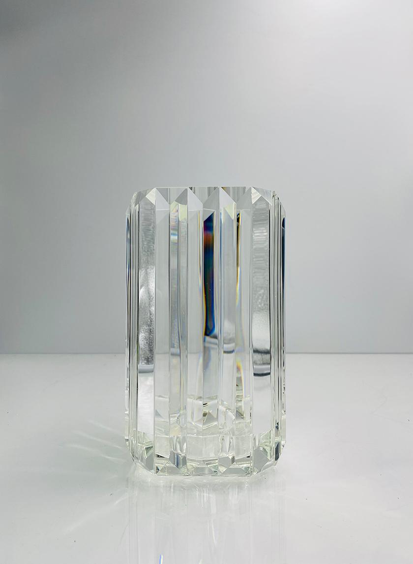 Large Pyramid Crystal Candleholder
