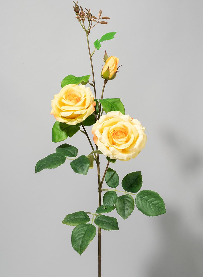 35in Yellow Rose Spray