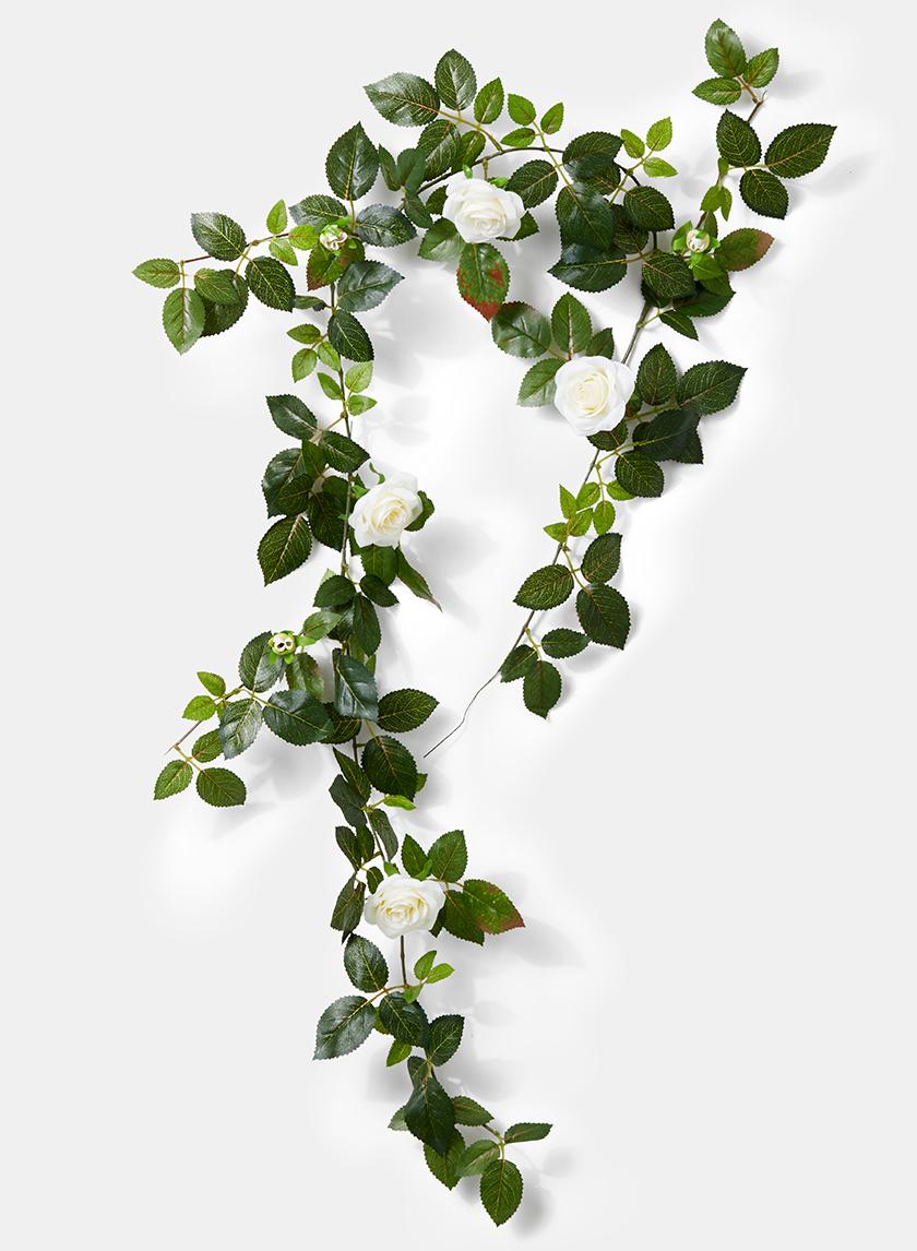 wedding cream rose garland