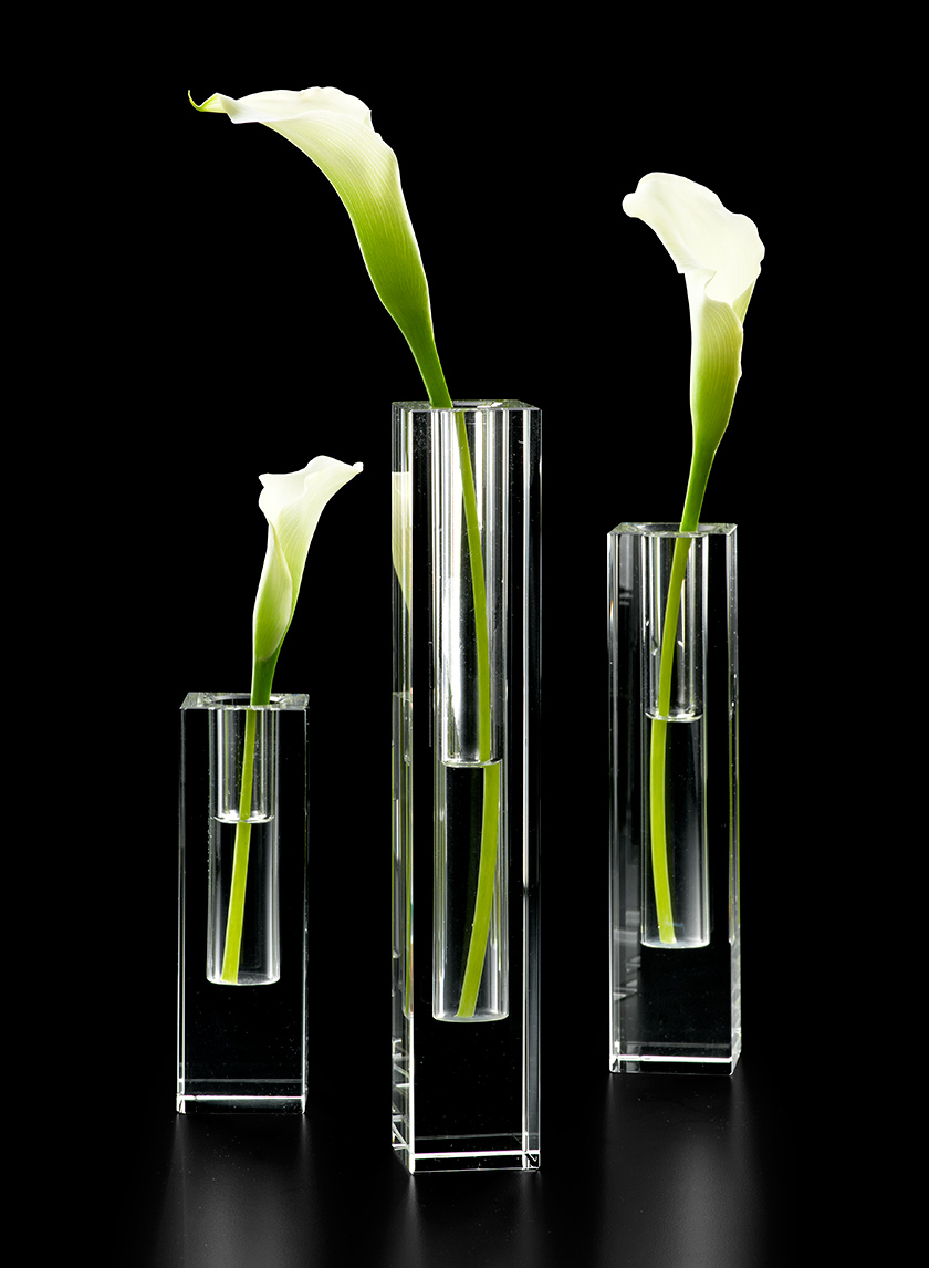 Square Glass Crystal Bud Vases