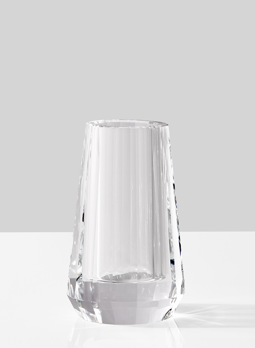 faceted crystal glass bud vase