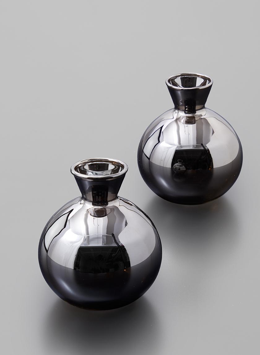 Platinum Bud Vase, Set of 2