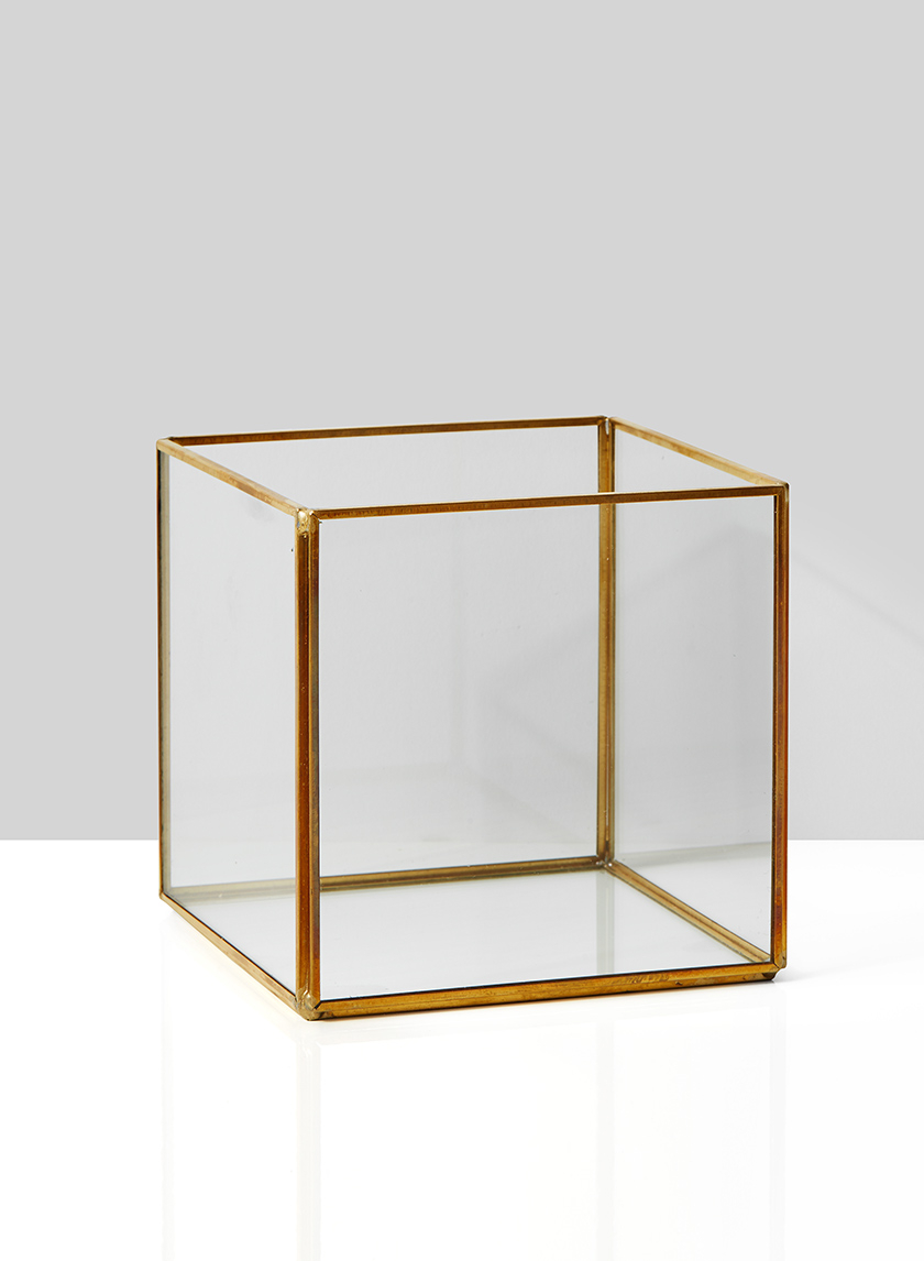 5in Gold Square Lantern