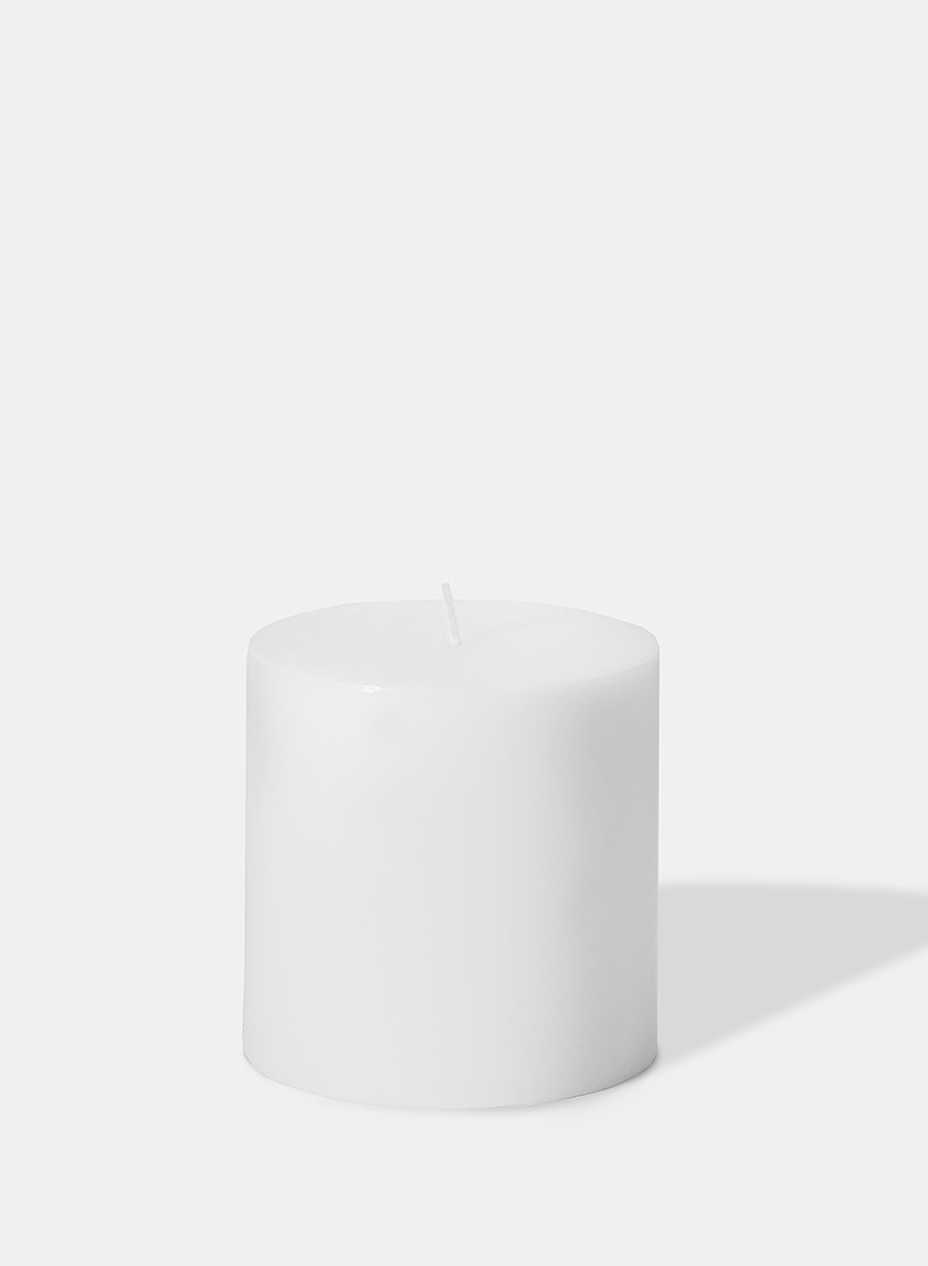 4 x 4in White Pillar Candle