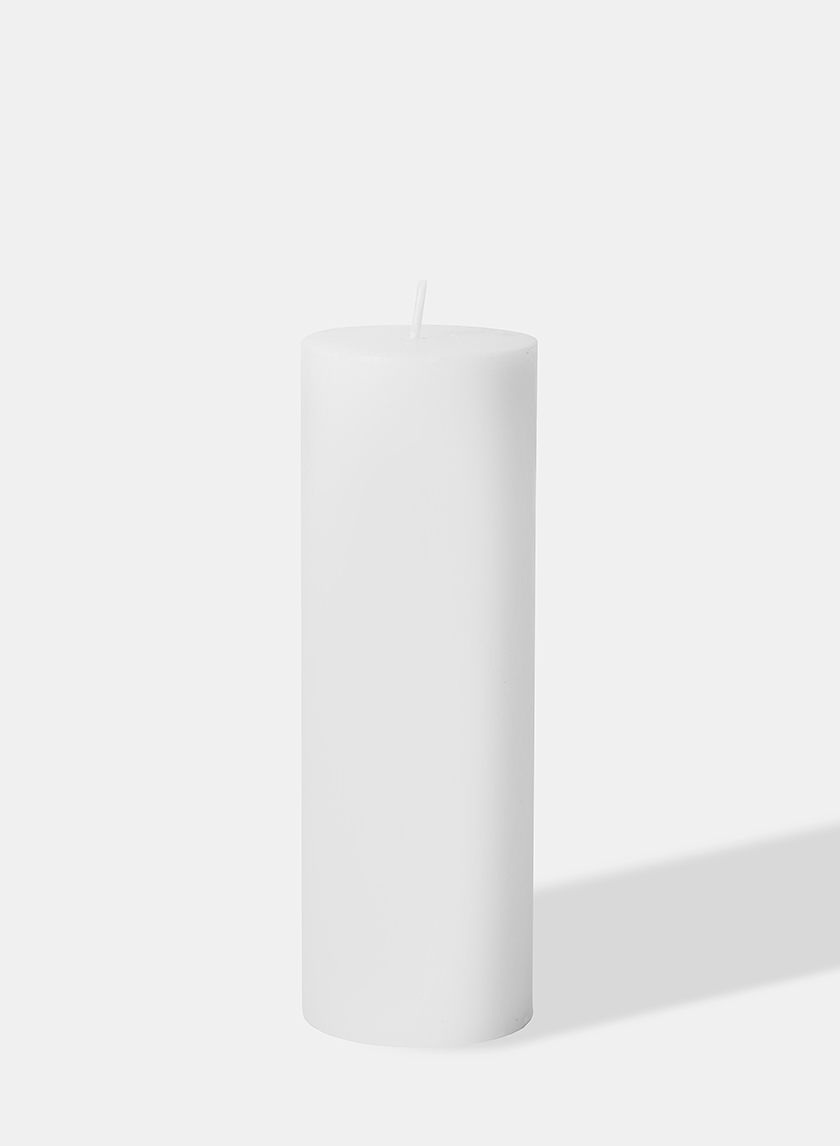 2 x 6in White Pillar Candle