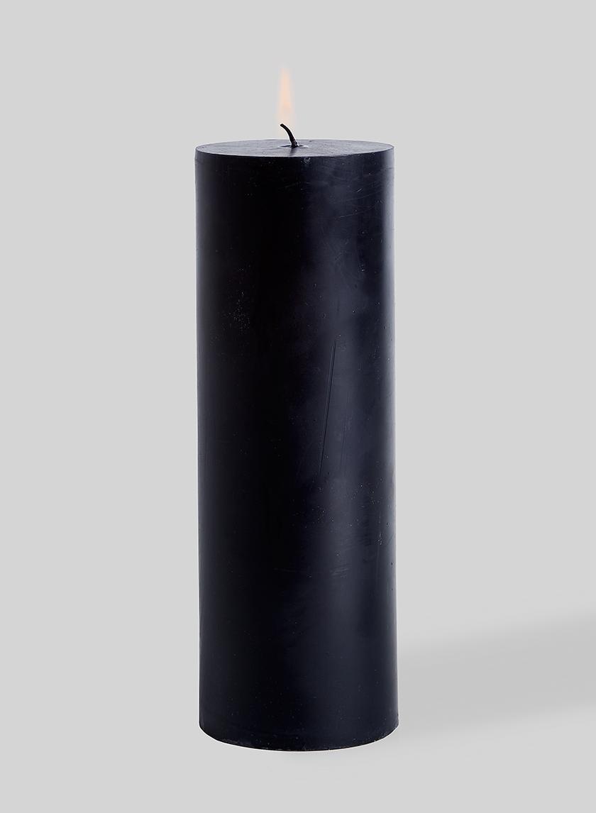 black pillar candles for event decor
