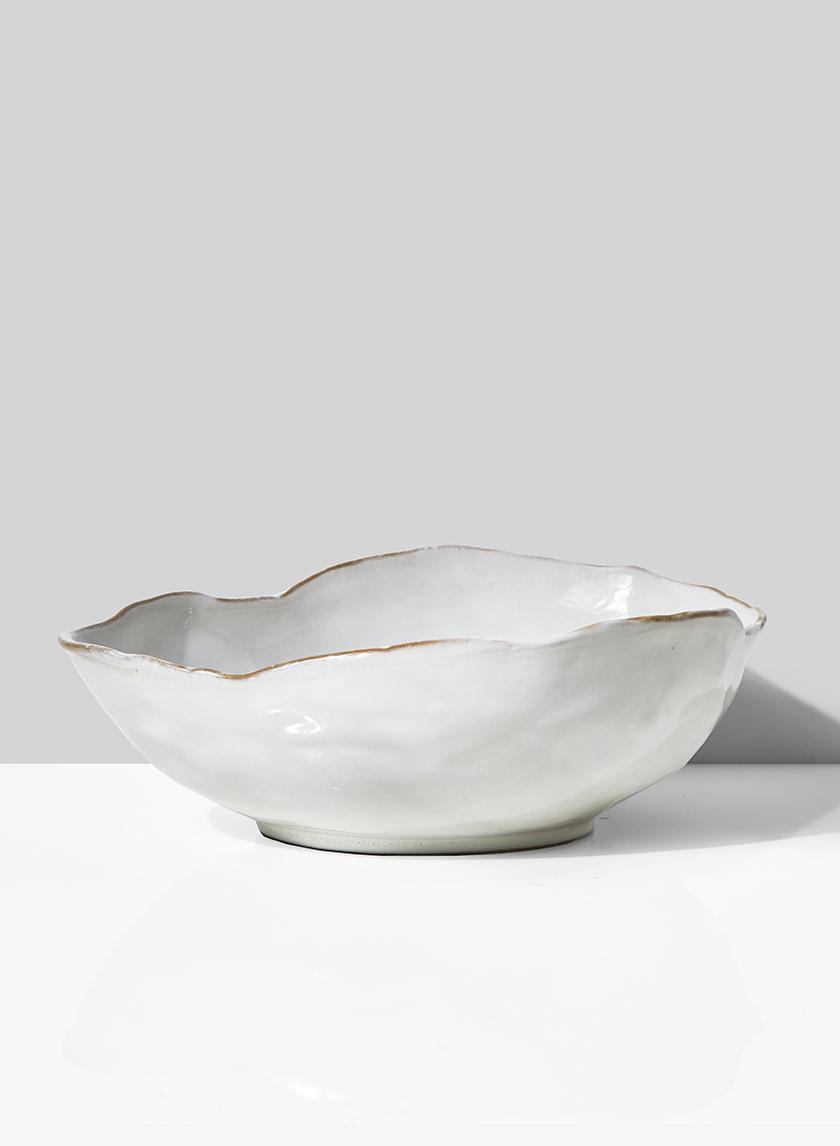 10 1/2in Freeform Edge Ceramic Potter's Bowl