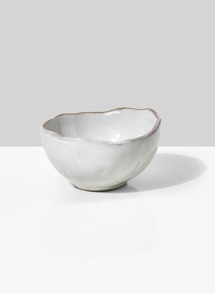 4in Freeform Edge Ceramic Potter's Bowl, Set of 4