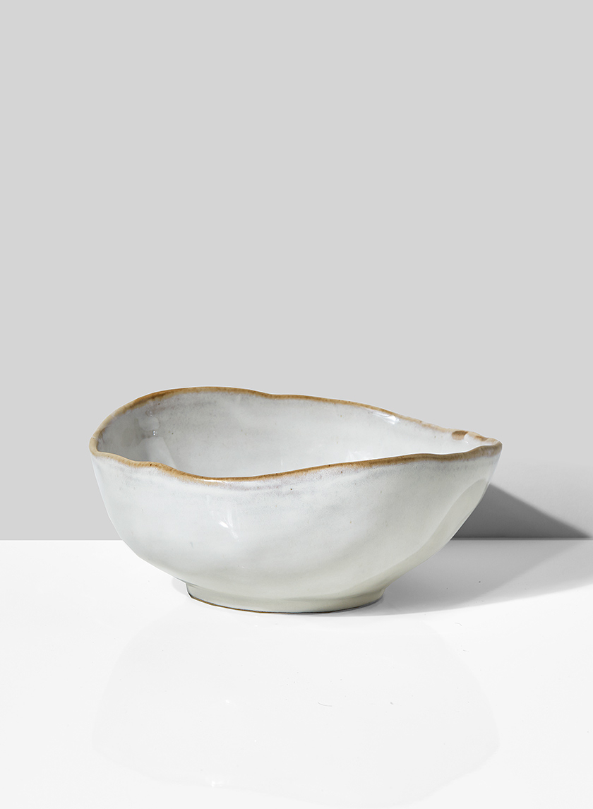 6in Freeform Edge Ceramic Potter's Bowl