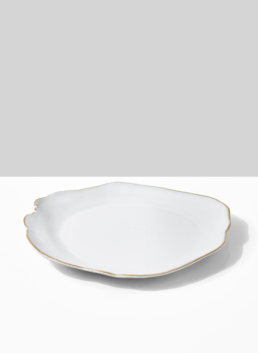 9in Freeform Edge Ceramic Potter's Plate, Set of 2