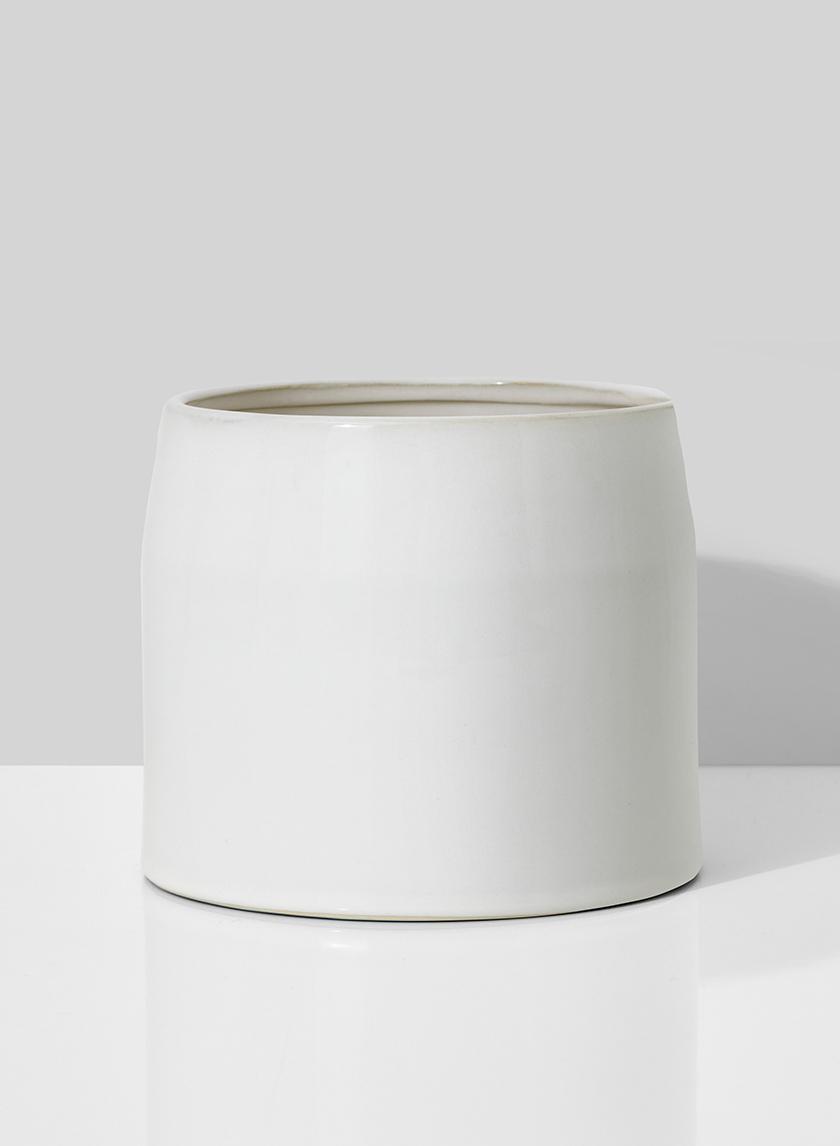 6 1/4in White Ceramic Potter's Bowl