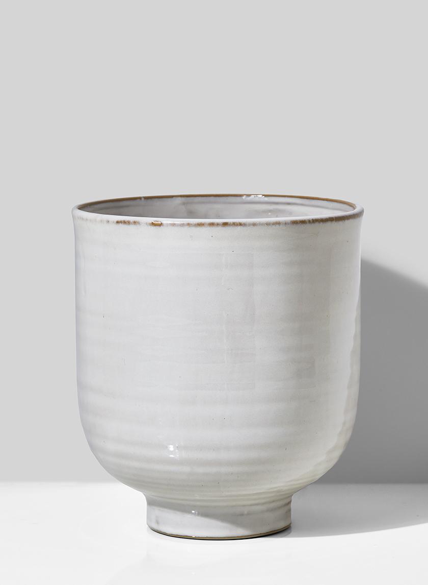 6 1/2in Glazed Ceramic Pedestal Bowl