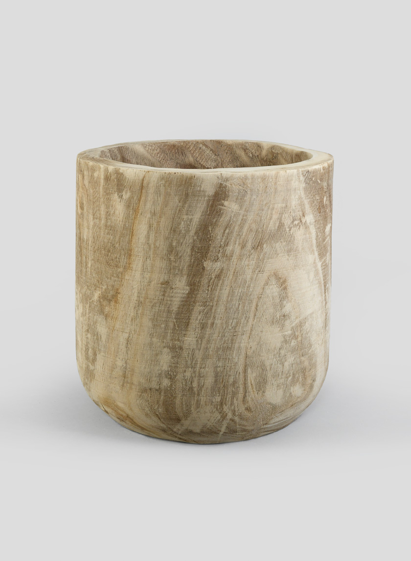 16in Paulownia Wood Cylinder Planter