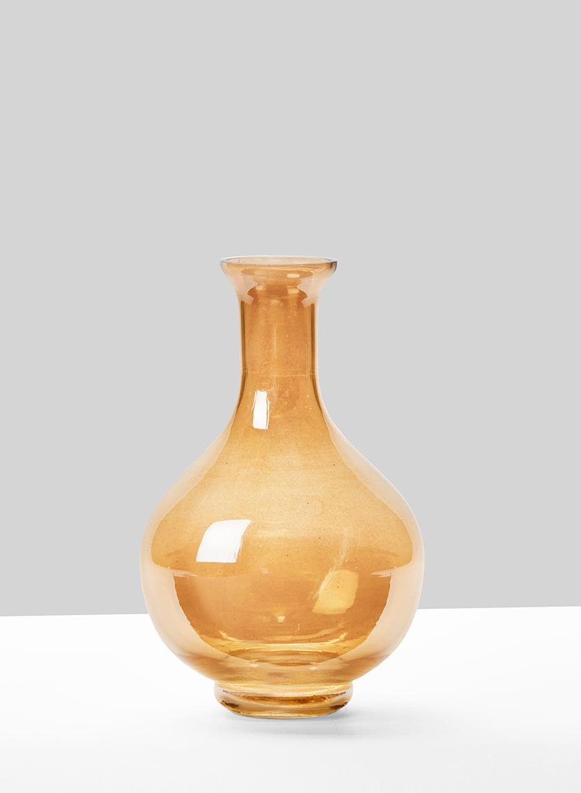 gold luster bottle bud vase