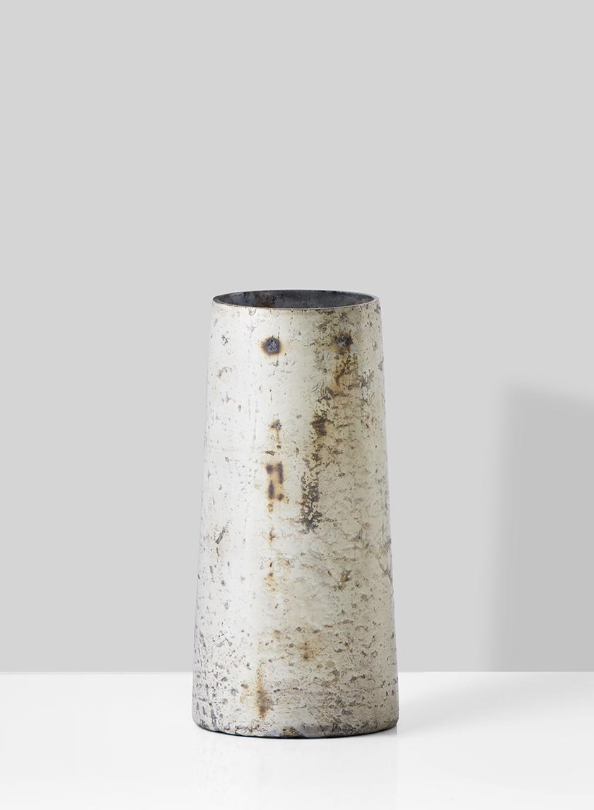 white pewter mercury glass bud vase