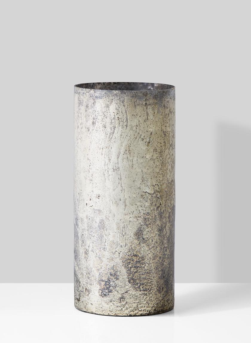 vintage white pewter glass vase