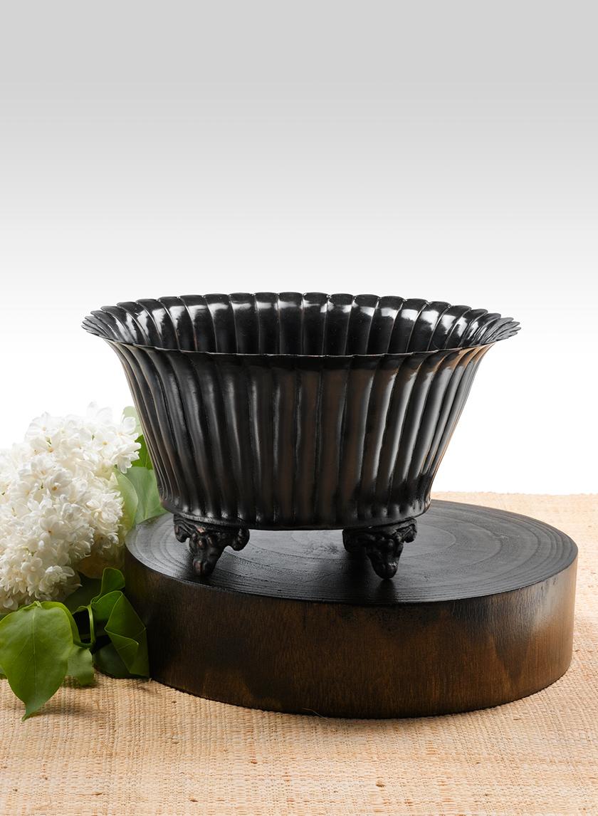 Antique Black Oval Urn