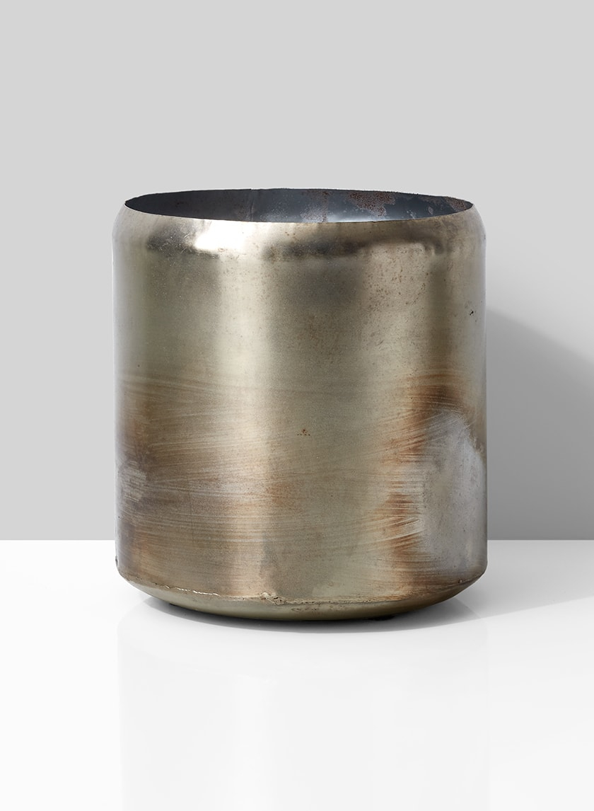 metal cylinder flower vase